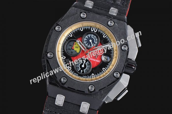 4f52b45945f Audemars Piguet Chronograph Limited Edition Offshore Carbon Black Ref  26290IO.OO.A001VE.01 Rep Swiss Watch
